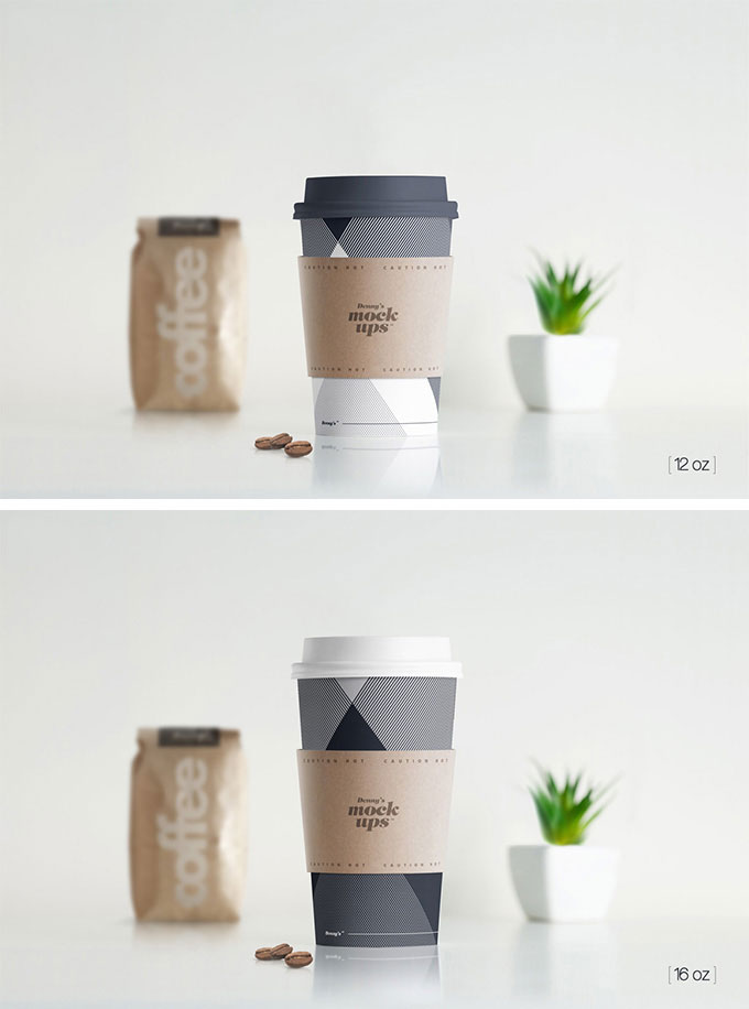 Coffee Paper Hot Cup Mockup PSD | Free download