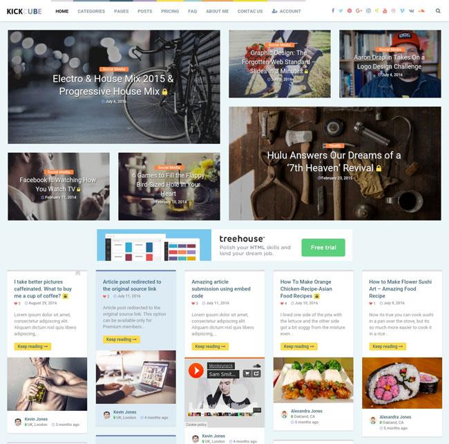 kickcube-membership-user-content-sharing-theme
