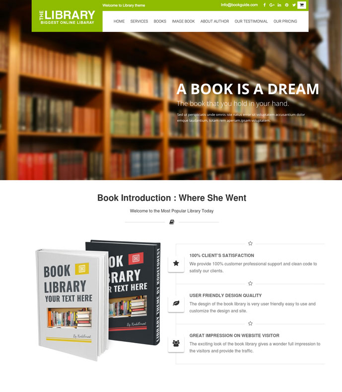 10 best wordpress themes for author selling ebooks 2017 designmaz bookguide fandeluxe Choice Image