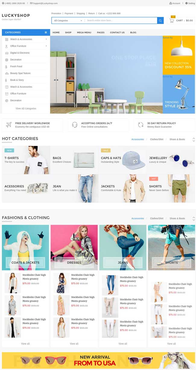 luckyshop-multipurpose-ecommerce-html-template