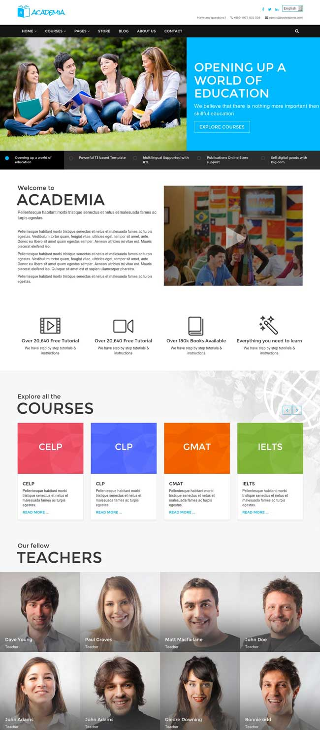 academia-education-bootstrap-template