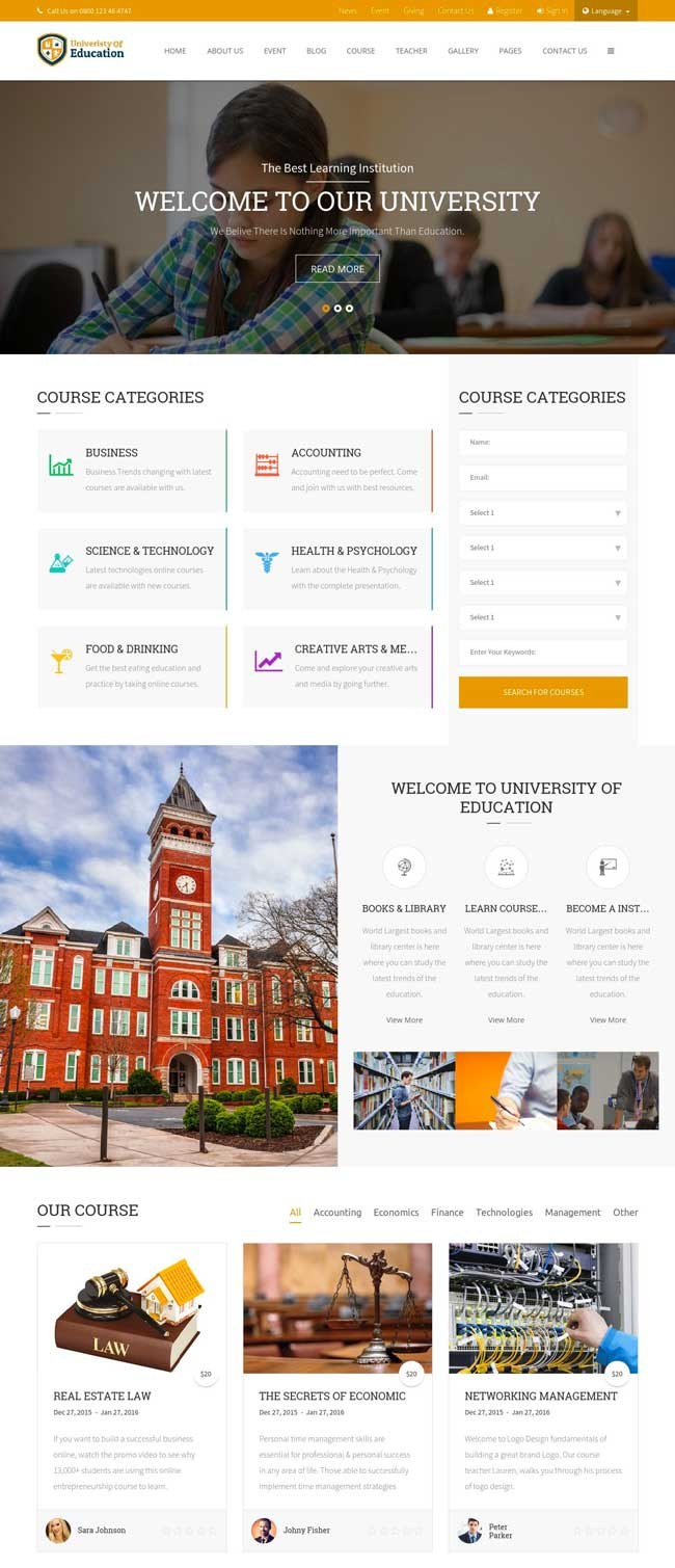 university-of-education-educational-html5-template