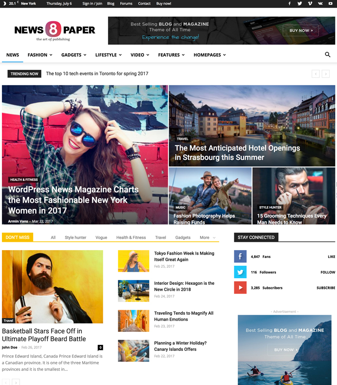09d5edd090c96 Newspaper is the most popular WordPress theme for news and magazine,  publishing and review website. This theme made by tagDiv and has been  upgraded to ...