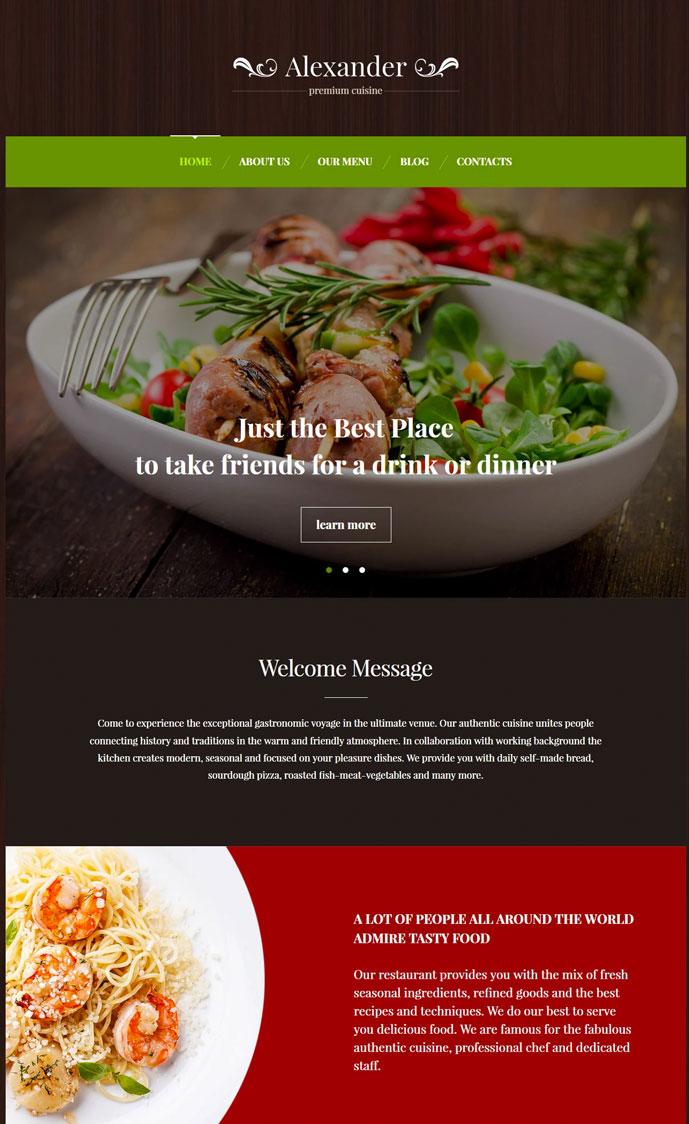 30 awesome food restaurant wordpress themes 2017 designmaz savory italian food italian restaurant responsive wordpress website forumfinder Image collections