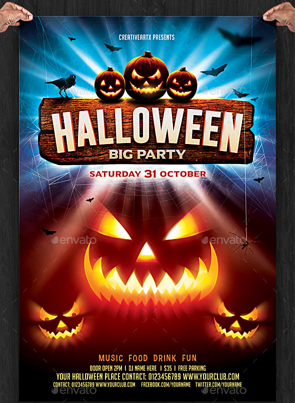 Halloween fliers militaryalicious 45 best halloween psd party flyer templates 2016 saigontimesfo