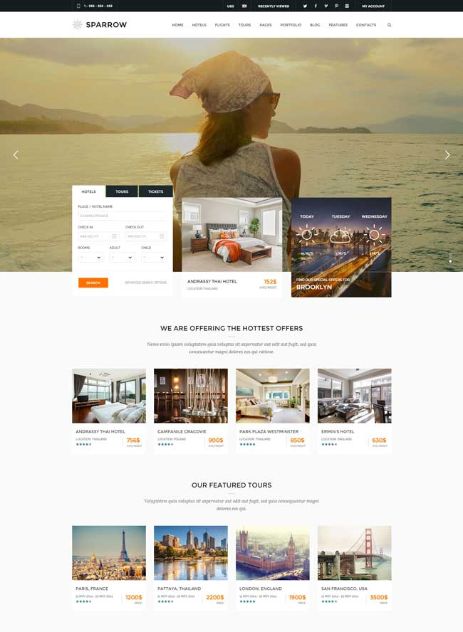 sparrow-responsive-travel-online-booking-template