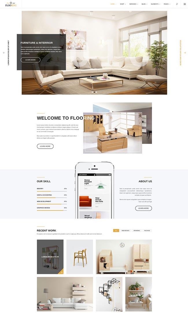 20 best interior design wordpress themes 2016 designmaz for Interior design theme ideas