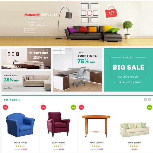 20+ Most Popular Interior Furniture Magento Themes 2016