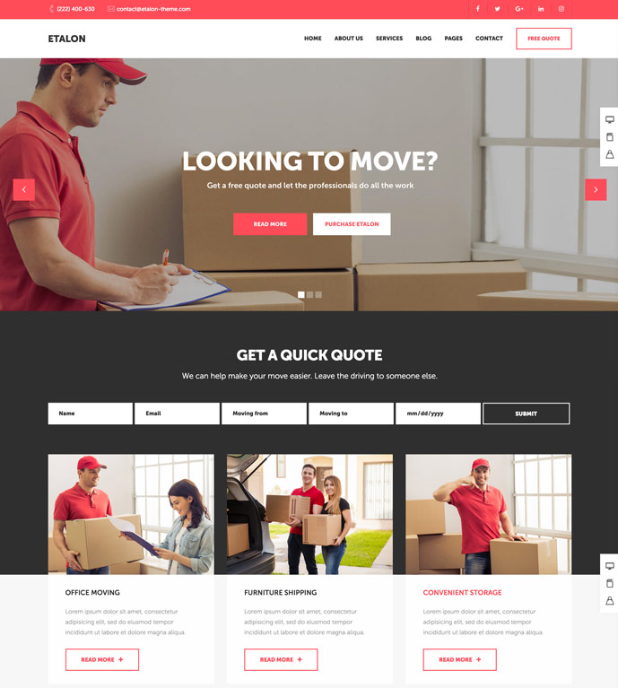 15 best transportation and logistics wordpress themes for for etalon is a easy to use wordpress theme ideally suited for small business owners entrepreneurs and business professionals this is just a glimpse of what flashek Images