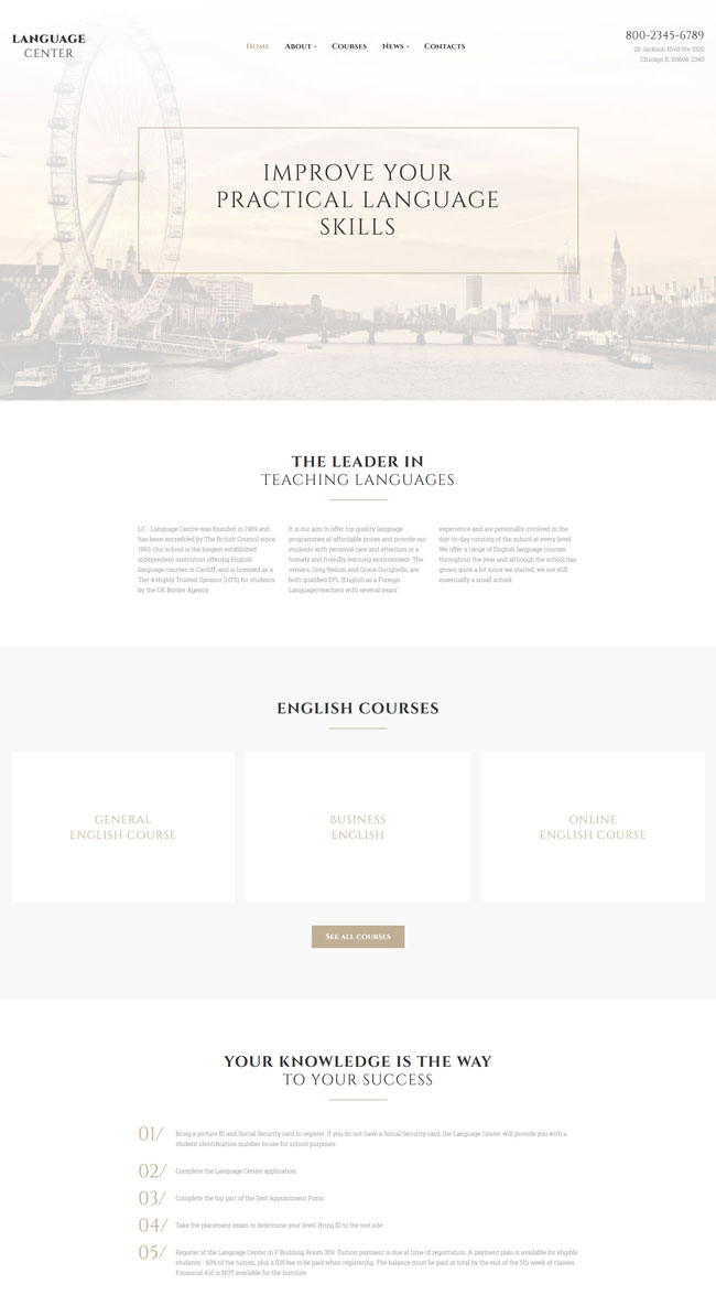 Language-Center-Multipurpose-Website-Template