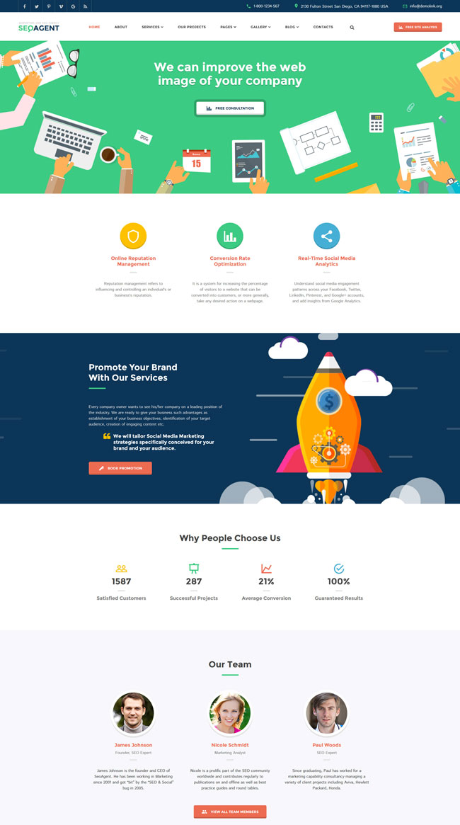 SEO-Agent-Multipurpose-Website-Template