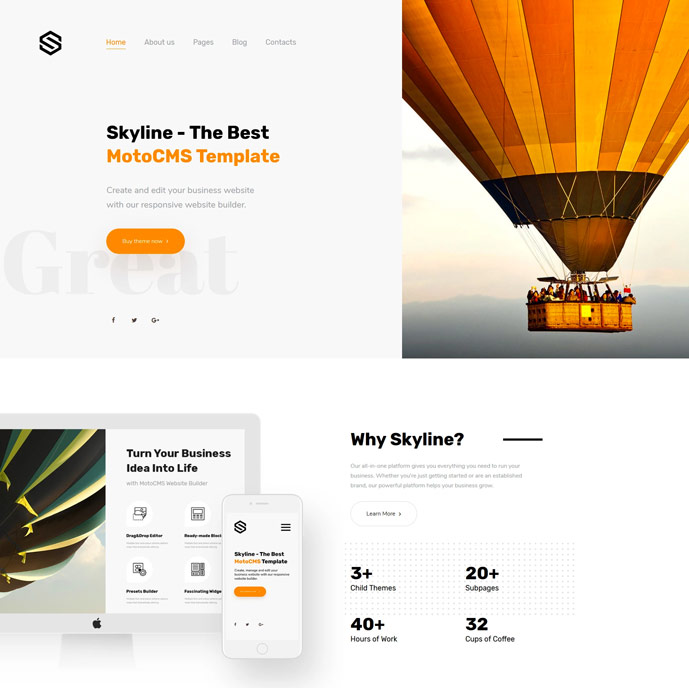 15 best flexible multipurpose html5 and css3 website templates 2018 skyline is a usable and feature rich motocms theme which will appeal to everyone looking for the cost effective way to create business website accmission Image collections