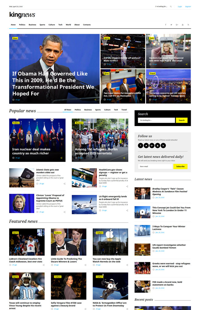 king-news-multipurpose-html5-website-template