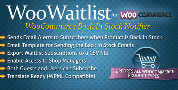add customers into a waitlist for a specific out of stock product
