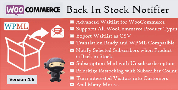 by installing this WooCommerce plugin, your customers will be notified about back-in-stock products