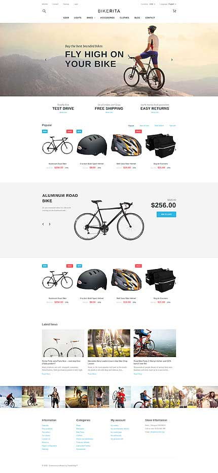 Bicycle-PrestaShop-Theme