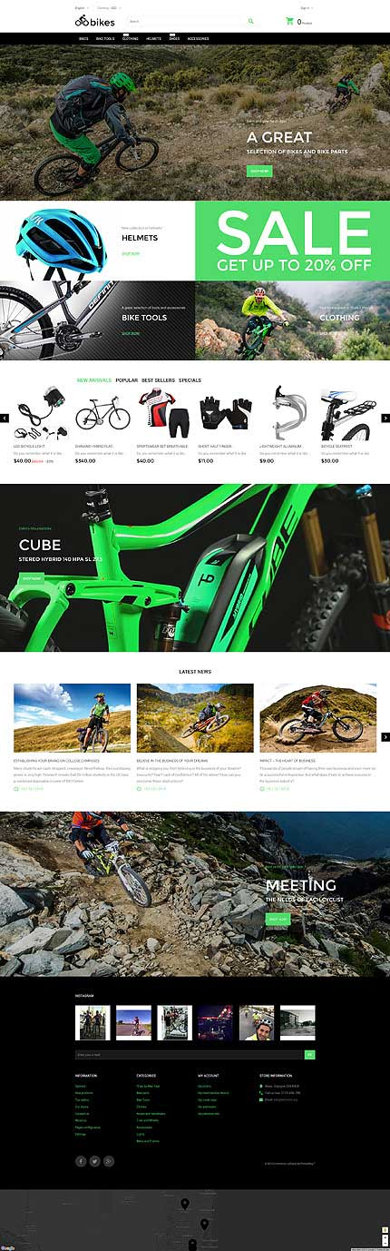 Bike-Store-PrestaShop-Template