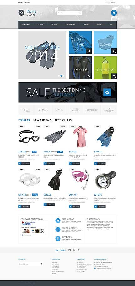 Diving-Store-PrestaShop-Theme