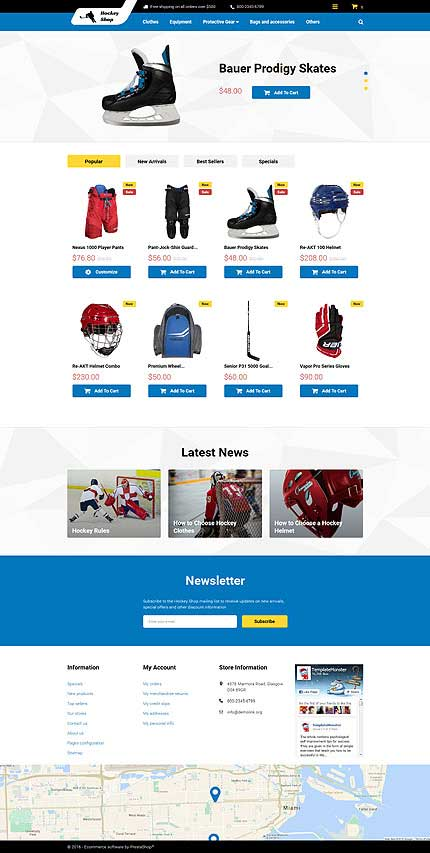 Hockey-Shop-PrestaShop-Theme