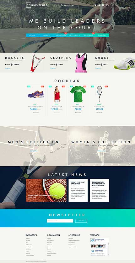 Tennis-Gear-PrestaShop-Template