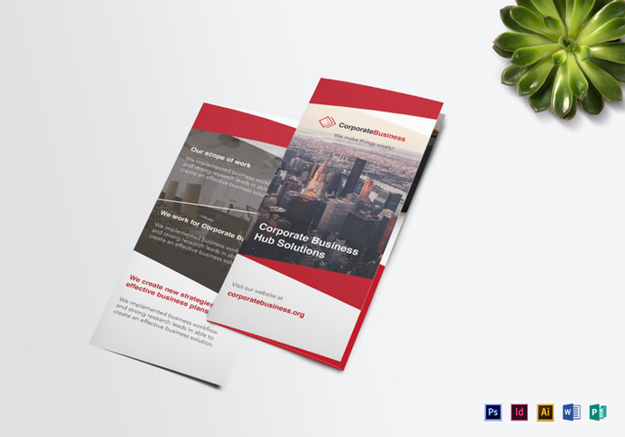 20 creative psd brochure templates for free 2017 designmaz for Tri fold business brochure template