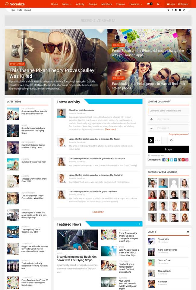 socialize-multipurpose-buddypress-theme
