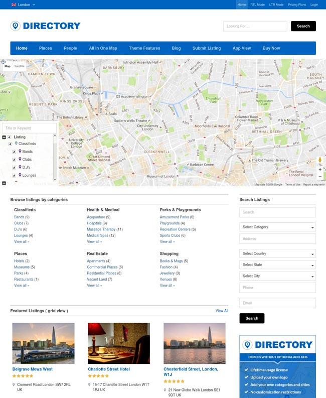 templatic-directory-theme