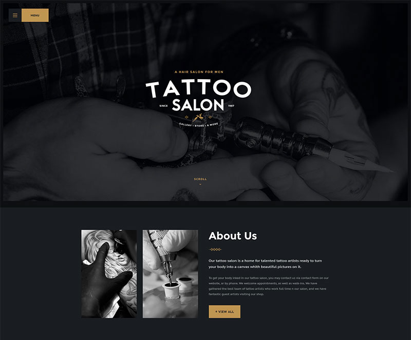 15 best responsive tattoo wordpress themes 2016. Black Bedroom Furniture Sets. Home Design Ideas