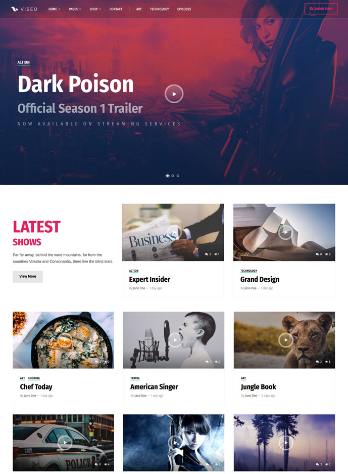 20+ Best Responsive TV, Movie and Video Blogging Wordpress Themes ...