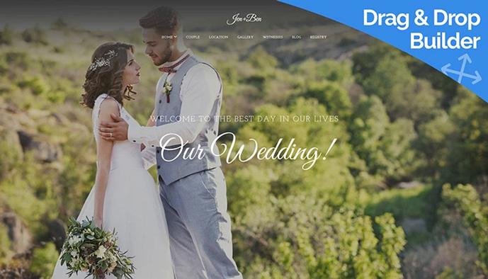 10 best responsive website templates for wedding and wedding