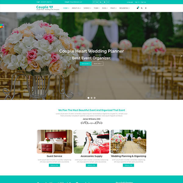 10+ Best Responsive Website Templates For Wedding And