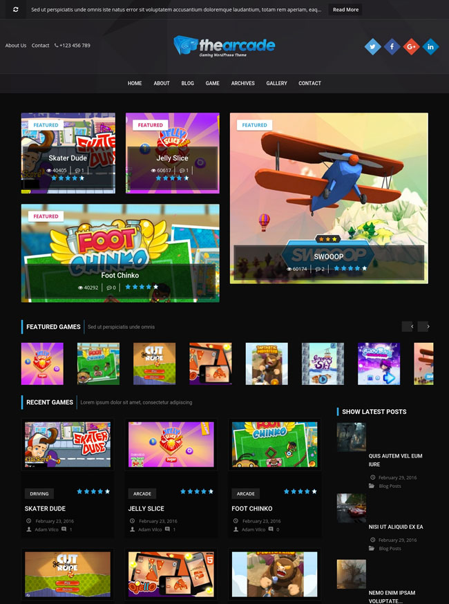 the-arcade-gaming-wordpress-responsive-theme
