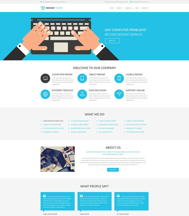 Electronics-Fixing-Services-WordPress-Theme