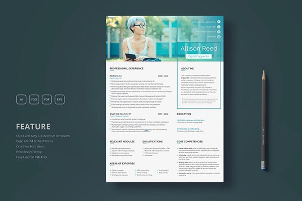 If You Are A Copywriter An SEO Specialist Or Digital Marketing Manager Looking For The Best CV Template To Present Your Skills And Portfolio On Web