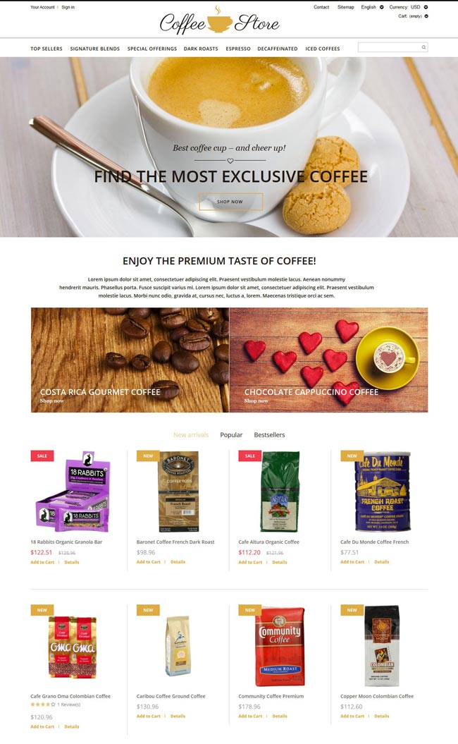 Coffee-Store-PrestaShop-Theme