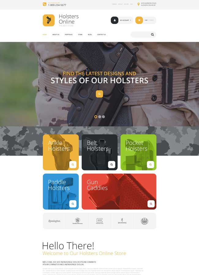 Holsters Online Store WooCommerce Theme