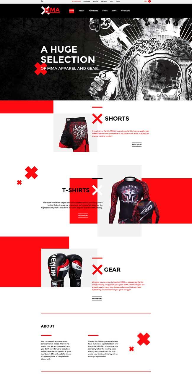 MMA WooCommerce Theme