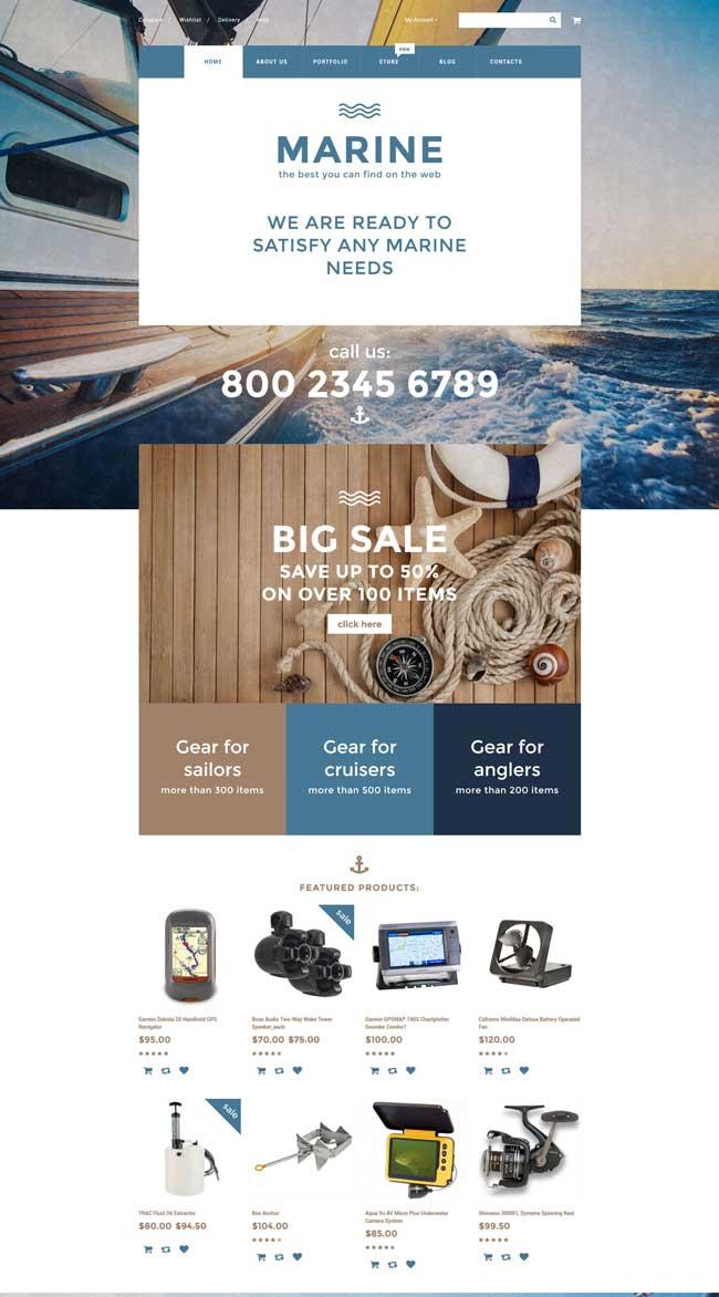 Marine WooCommerce Theme