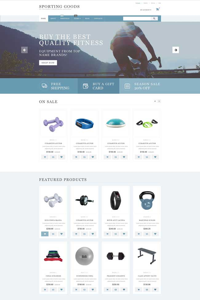 Sporting Goods WooCommerce Theme