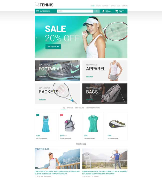 Tennis WooCommerce Theme