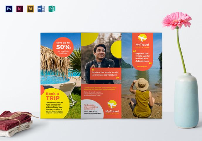 Tourism Brochure Template | 40 Best Travel And Tourist Brochure Design Templates 2018 Designmaz