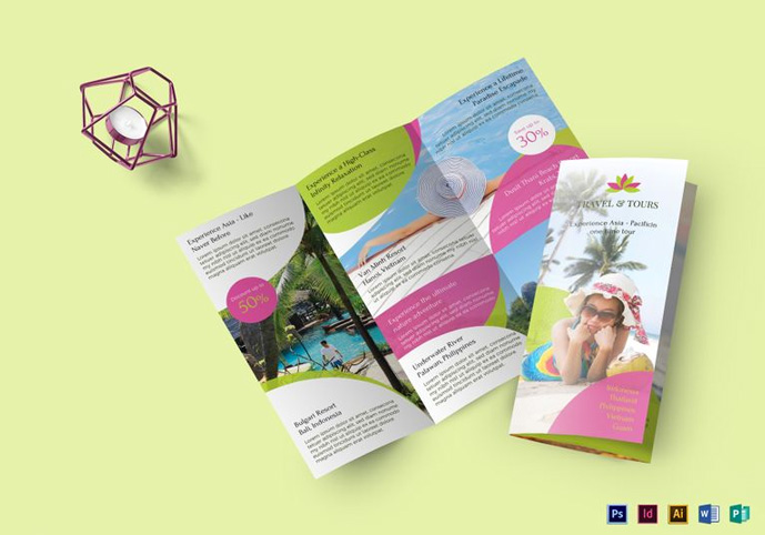 Vacation Brochure Template | 40 Best Travel And Tourist Brochure Design Templates 2018 Designmaz