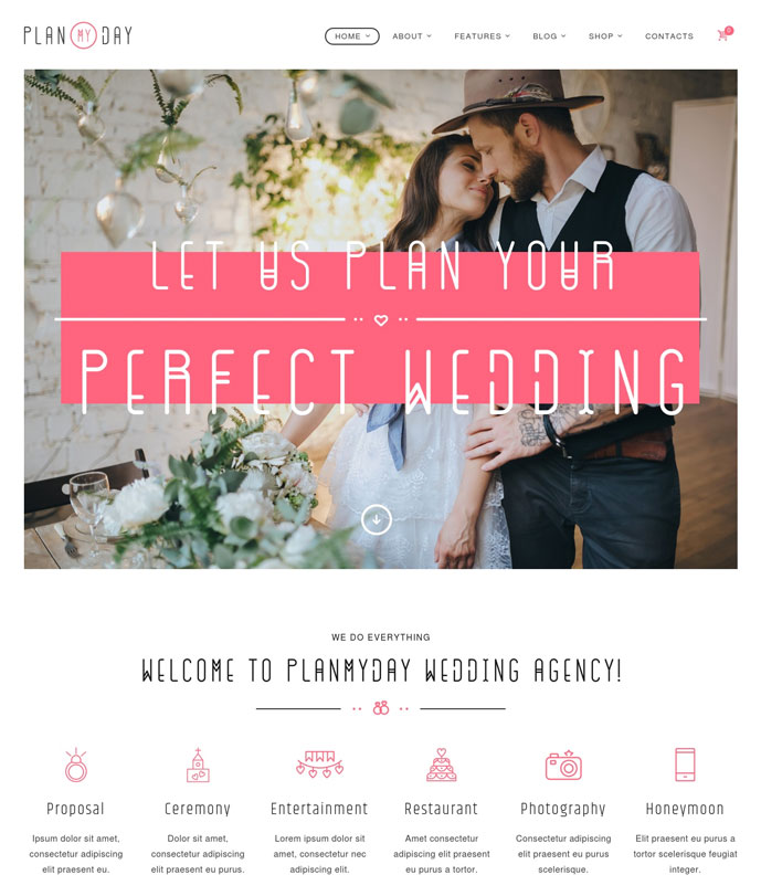 40 Sweet Responsive Wedding Marriage Wordpress Themes 2017