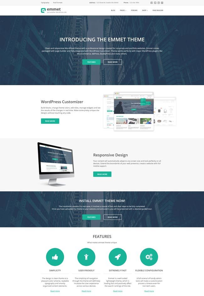 15+ Professional WordPress Themes for Small Business 2016 - DesignMaz